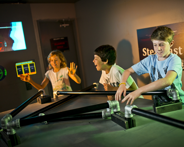 Seize control of the ship and steer it out of range of the missile target!
